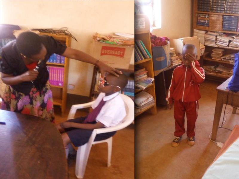 Eye screening of students in Machakos
